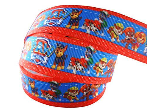2m x 22mm NICK JR PAW PATROL GROSGRAIN RIBBON FOR BIRTHDAY CAKE'S, WEDDING CAKES, GIFT WRAP WRAPPING MOTHERS DAY £2.85 (as of July 30, 2017, 6:11 pm)	& FREE Shipping. Details