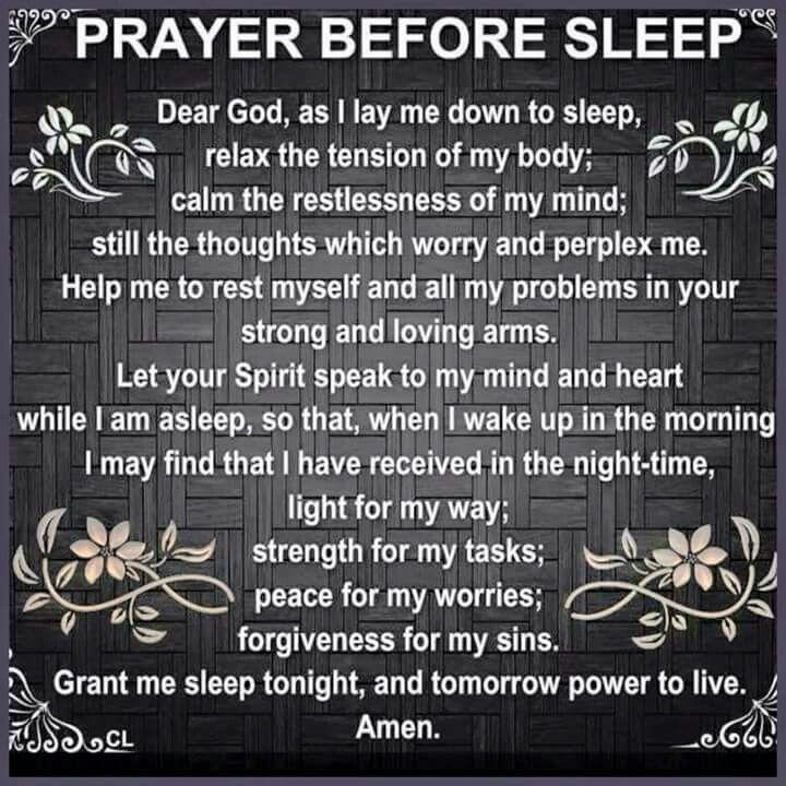Nighttime prayer