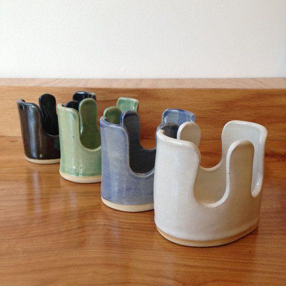Ceramic Double Sponge Holder by PONSHOP on Etsy $24