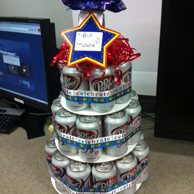 Birthday Can Cake I Made This For My Bosses He LOVES Diet Dr Pepper Great Idea