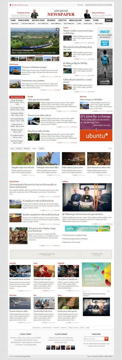 The 25+ best ideas about Wordpress Magazine Theme on Pinterest - online newspaper template