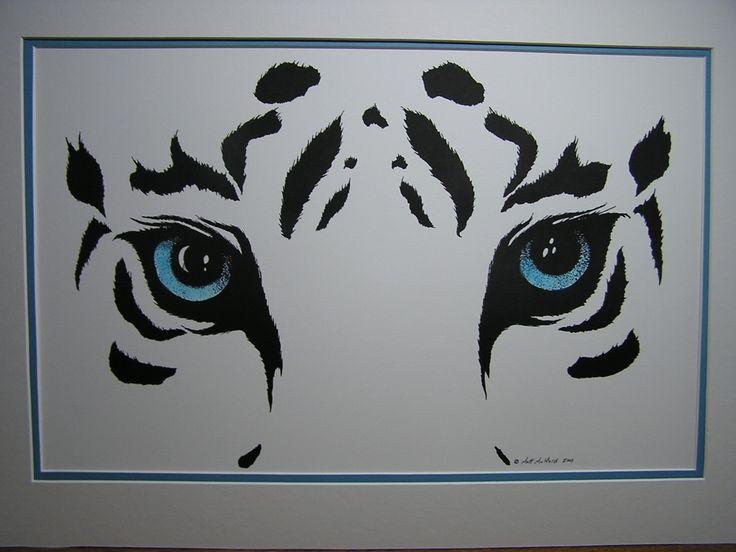 White Tiger Eyes Print. $40.00, via Etsy.