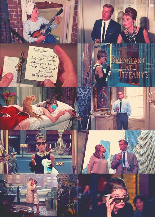 A focus on the main character holly golightly in the film breakfast at tiffanys