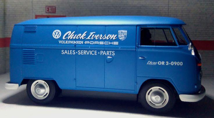 Superslot S3645. Volkswagen Camper Panelvan. Chick Iverson Porsche VW dealer. #slotcar