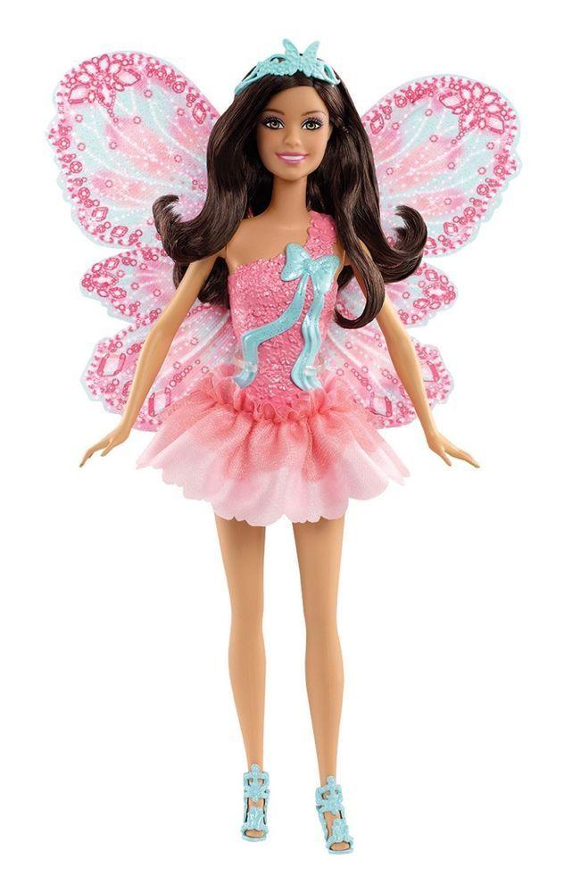 Mattel X9450 Barbie Schmetterlingsfee brünett Puppe mit abnehmbaren Flügeln NEU