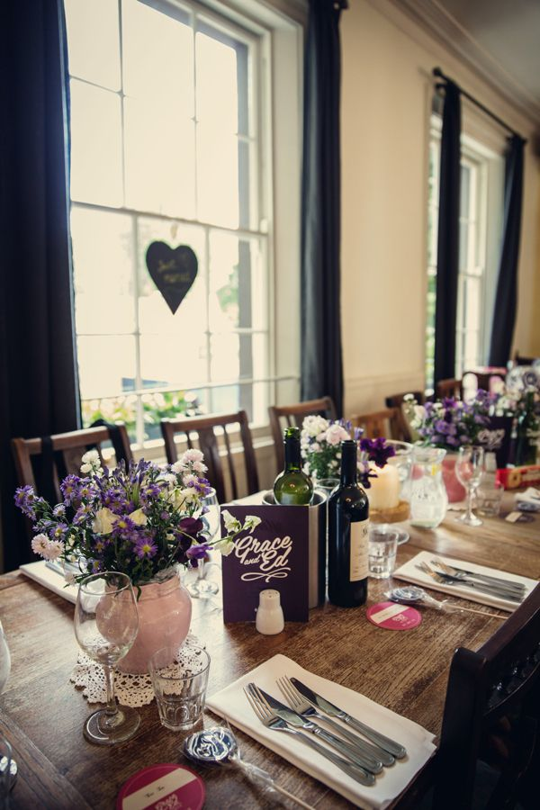 A Polka Dot Dress For A 1950s and 60's Inspired London Pub Wedding
