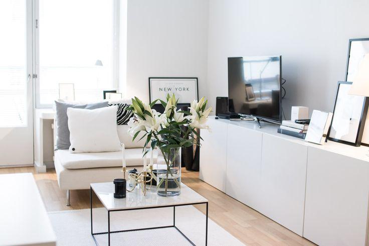 Ikea 'Söderhamn' lounge chair & 'Besta' sideboard