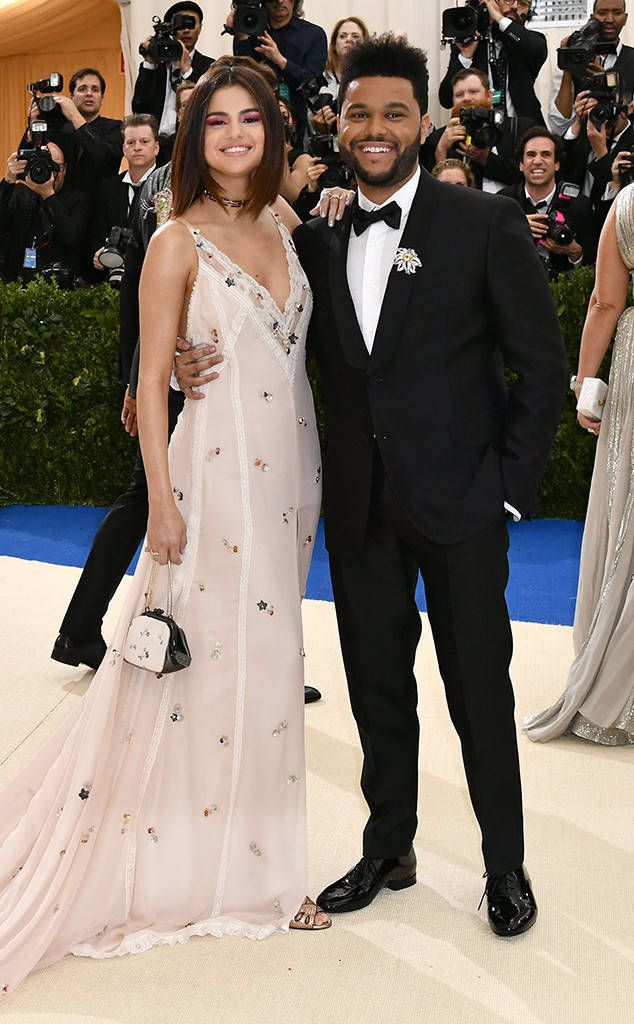 Selena Gomez and The Weeknd from 2017 Met Gala: Red Carpet Couples  The cute couple made their red carpet debut at the 2017 Met Gala...and they did it in style!