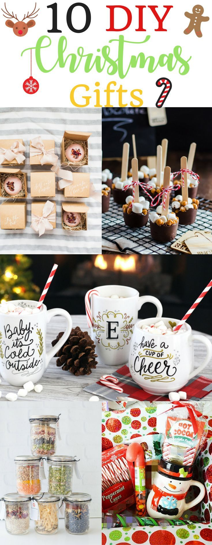 Get creative making your gifts this year. Holiday christmas diy gifts easy cheap dollar store homemade basket jars