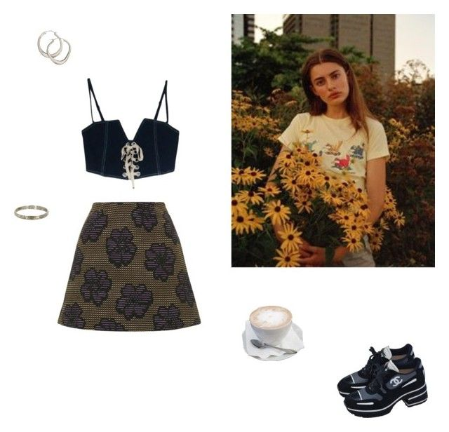 """""""kiss me, kiss all the love out of me"""" by louisesuxx ❤ liked on Polyvore featuring Topshop, Dinny Hall, Vintage and Chanel"""