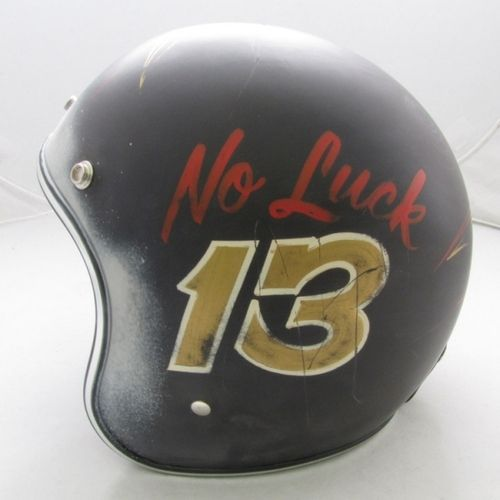 No Luck 13 helmet.: Good Luck, Buckets, Motorbikes Galleries, Luck 13, Brushes, Unlucki Helmets, Typeveryth Com, 13 Helmets, Cafe Racers