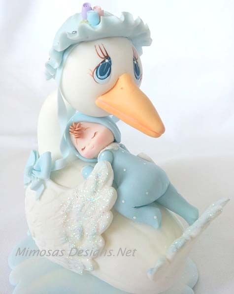Baby Shower Stork - Cake Topper