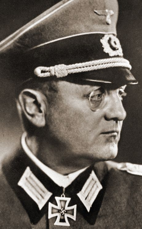✠ General Dietrich Hugo Hermann von Choltitz, German aristocrat and the last German commander of occupied Paris. Adolph Hitler had reportedly ordered him to leave Paris 'lying in complete debris' but Von Choltitz, who came to consider Hitler and his entourage 'uneducated animals!', disobeyed the order. He surrendered to the French Count of Hauteclocque (aka Maréchal Leclerc). Knight's Cross of the Iron Cross (Germany) 1940 as well as France's Knighthood of the Légion d'Honneur, 1955.