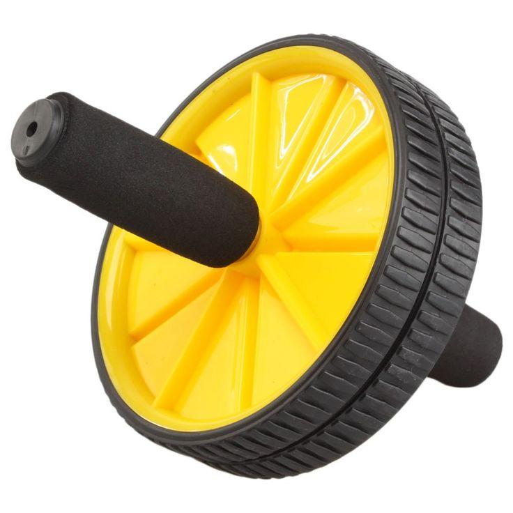 Abdominal Trainers Dual AB Whell Roller Exercise Equipment Abdominal Workout Sport Fitness Gym exercise equipment New. Material: Steel & Foam High Strength Hard-wearing Plastic. Size: Wheel Diameter: 2.95 in / 7.5 cm 2. Handles Length: 10.23 in / 26 cm. Color: Yellow & Black. Package Includes: 2 x NEW Workout Single Wheel Abdominal Core Exerciser Strength Trainer Kit Yellow 1 x Handle 1 x Cushion. Weight: 25.15 oz / 713 g exercise equipment.