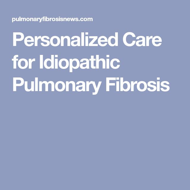 Personalized Care for Idiopathic Pulmonary Fibrosis