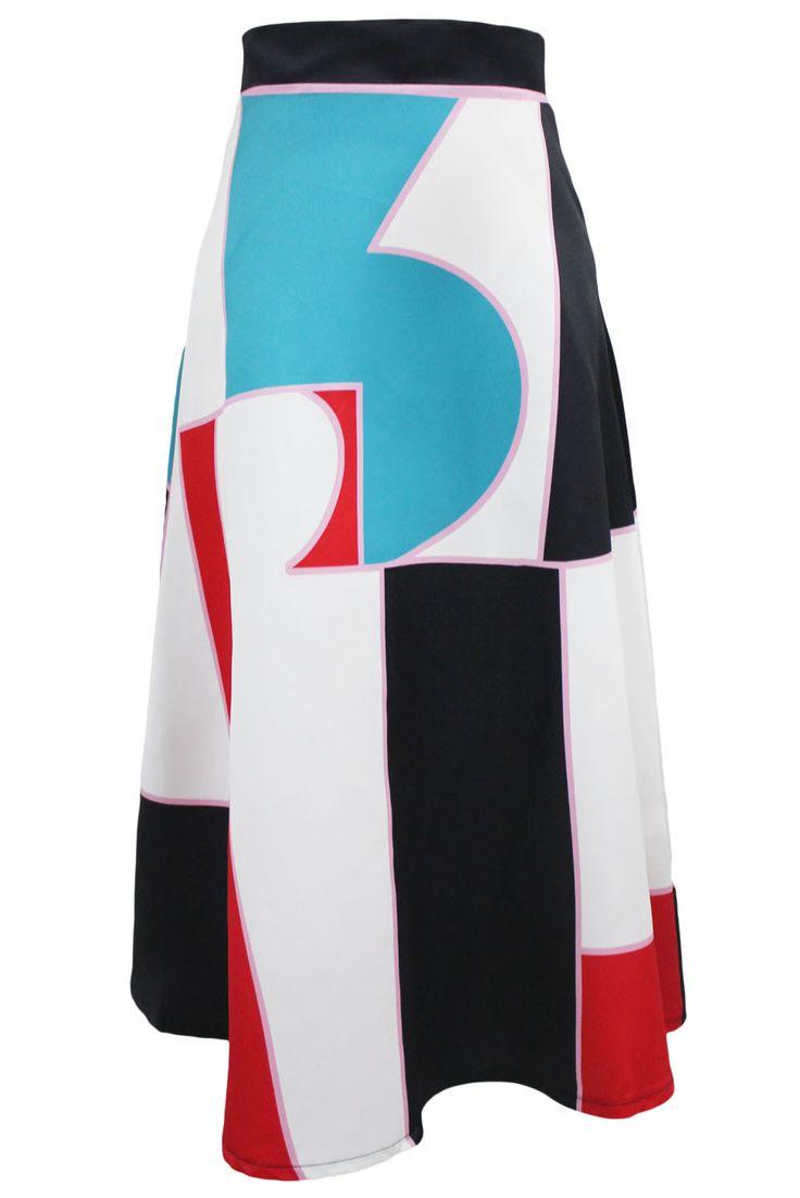 Prix: €14.94 Jupes Longues Hiver Taille Haute Bloc de Couleur Pas Cher www.modebuy.com @Modebuy #Modebuy #MultiCouleur #style #gros #mode