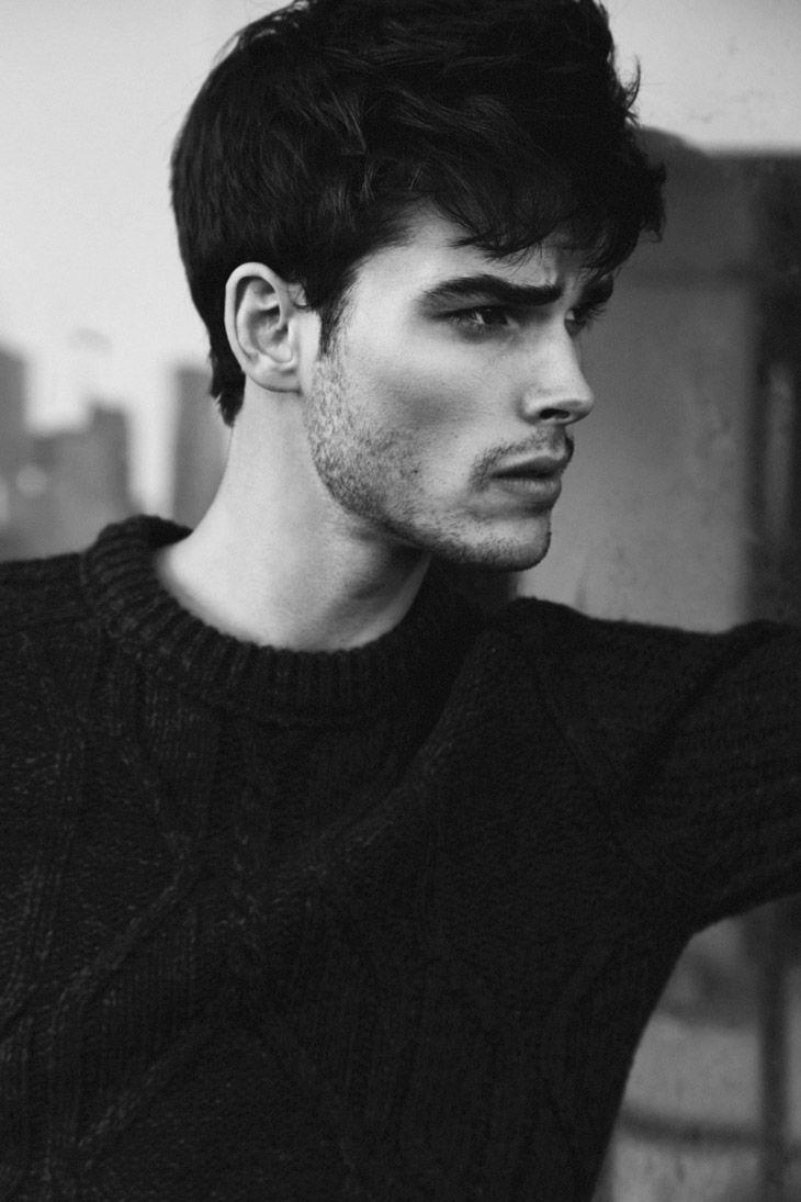 Lucas Mirambaud | Photographed by Alex Evans [ b&w | male models | popular | facebook | twitter | google+ | instagram ]
