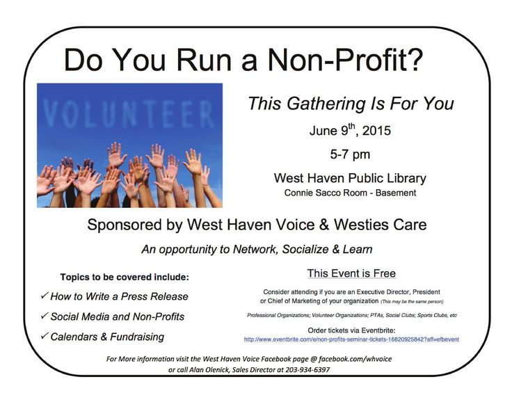 Pin by West Haven Voice on WHV Ads Non profit, Ads, West