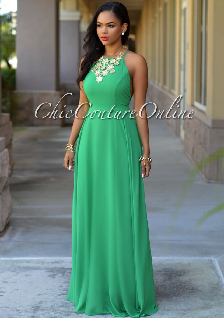 Chic Couture Online - Divine Kelly Green CrissCross Back Maxi Dress, (http://www.chiccoutureonline.com/divine-kelly-green-crisscross-back-maxi-dress/)