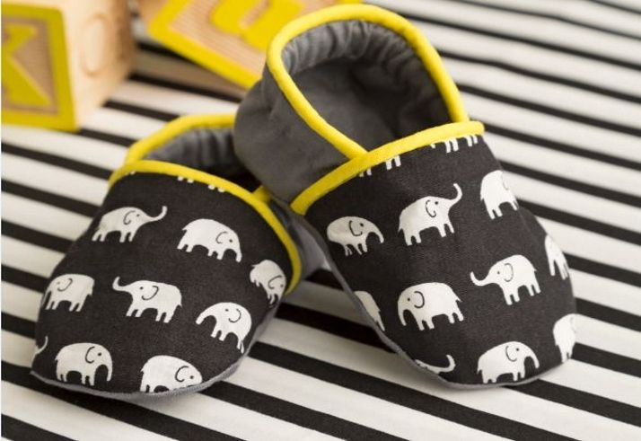 Courtesy Simplicity Creative Group  Your little one will take his or her first step in the right (fashion forward)direction in these cute modern-style baby shoes. Go completely traditionalwith white satin or go totally mod with a fun, trendy print. Either way your child is...