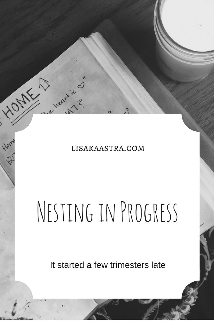 """It started a few trimesters late, but my nesting instinct has been in full swing for the past few months now. I'm craving stability, kitchen flowers, and home decorations; nurseries, welcome mats, and pictures hung up on the wall… not worrying about when exactly they'll need to come down..."""