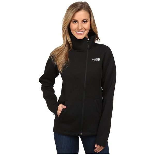 The North Face Haldee Jacket Women's Coat ($120) ❤ liked on Polyvore featuring outerwear, coats, the north face, long coat, drape coat, long sleeve asymmetric coat and asymmetrical coat