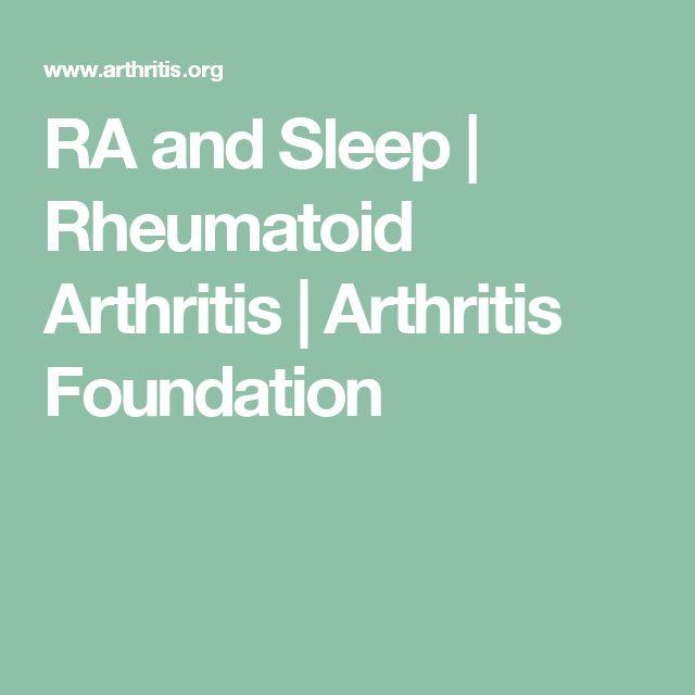 RA and Sleep | Rheumatoid Arthritis | Arthritis Foundation