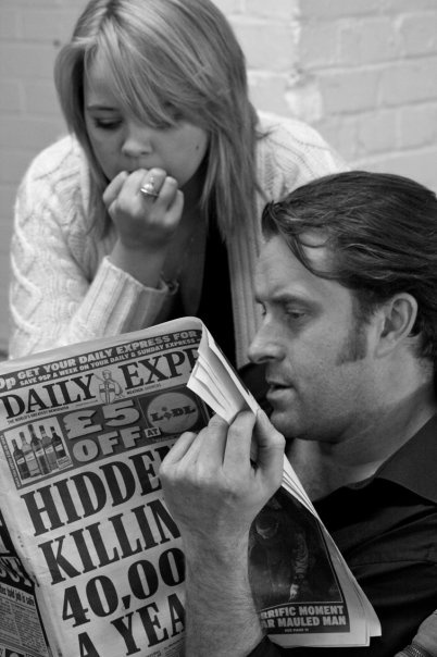 Katie Hall (Cosette) and Earl Carpenter (Javert) - Photos from the London rehearsals, taken by the production's very own Madame Thénardier - Lynne Wilmot #theatre #lesmis #musicals www.lesmis.com