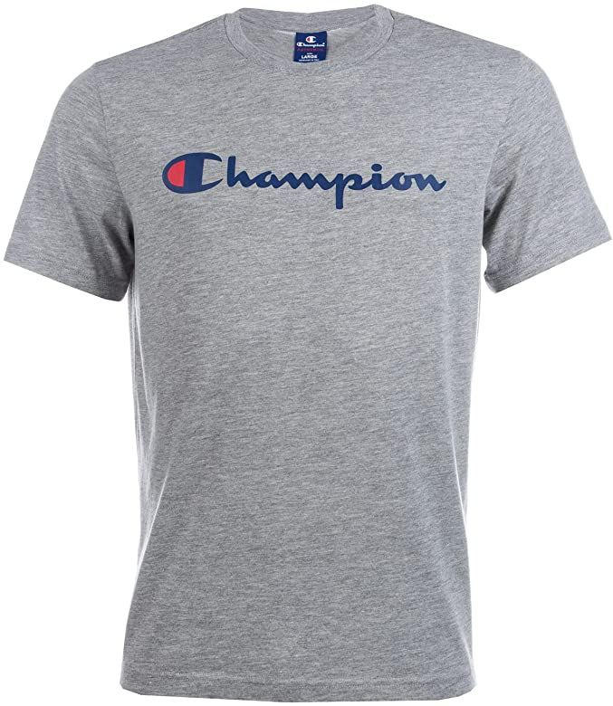 Champion Mens Mens Logo T Shirt In Grey Marl Xl Amazon Co Uk