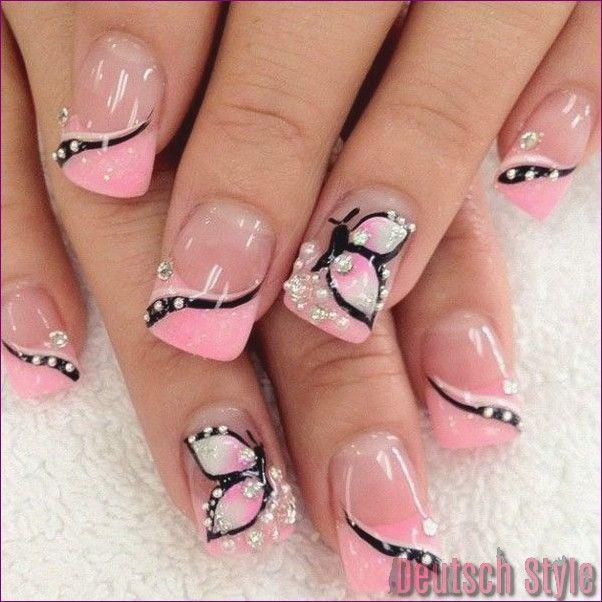 15 niedliche rosa Nail Art Designs für Anfänger
