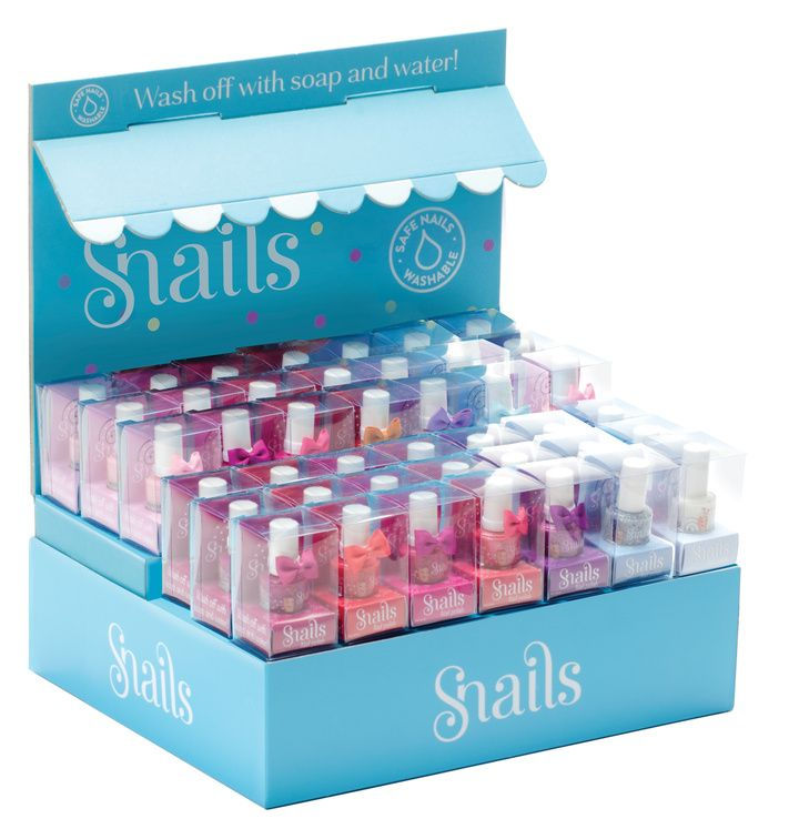 Snails super safe nail polish that comes off without harsh chemicals--just soap and water!