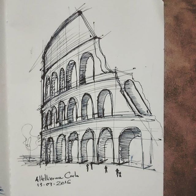 Dia 73: Coliseu, Roma.  #desenhosdoalti #desenhos #sketch #sketchers #sketchbook #art #artlovers #artbrazil #artworks #instaart #instartist #illustration #UmDesenhoPorDia #Weekend #dibujo #pen #retrato #draw #drawing #iLike #FTA #ArtAutorias #projetoartistadivulgado #Arquitetura #Urbanismo #Historia #Roma #Coliseu