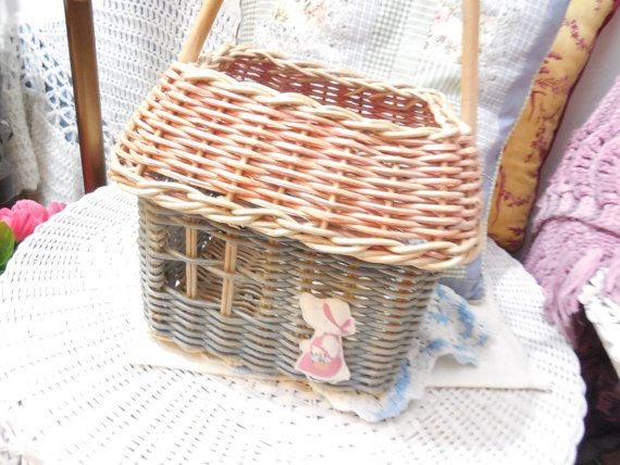 Sweet house Basket with little Girl on it by Daysgonebytreasures
