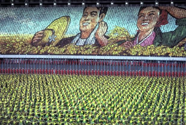 Magnum Photos Photographer Portfolio - NORTH KOREA. 1992. Pyongyang. About fifty thousand students celebrate President Kim Il Sung's Birthday. Hiroji Kubota