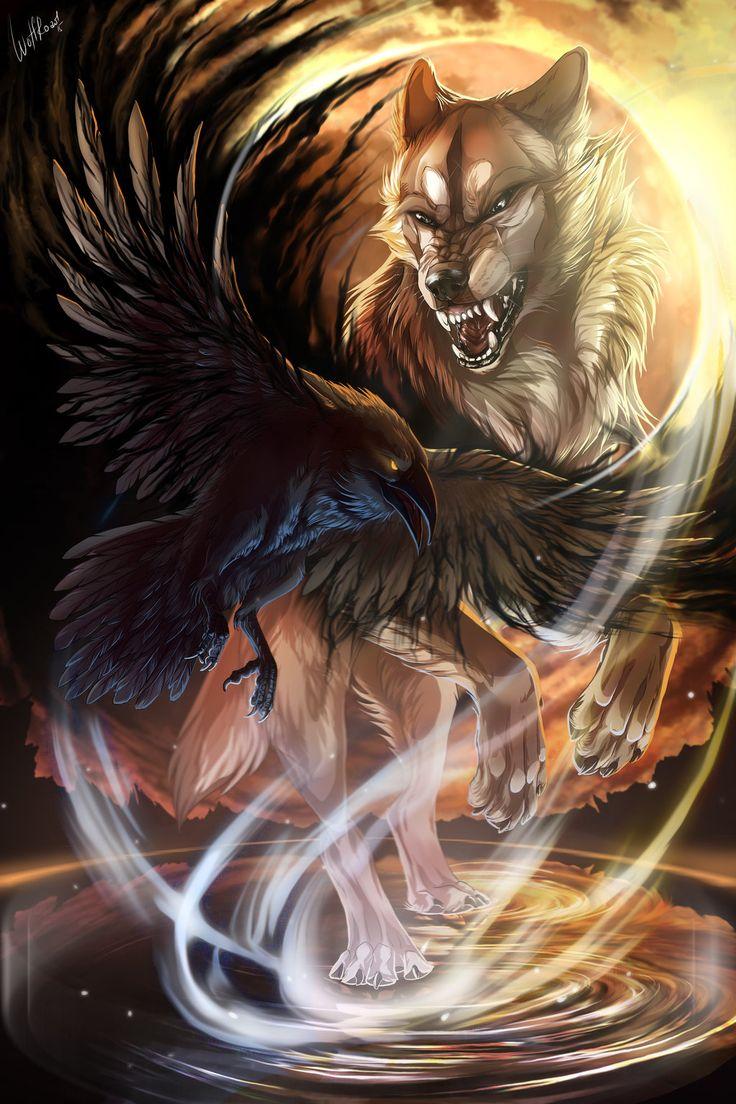Weißer Wolf + Raabe