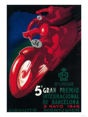 Barcelona, Spain - 5 Gran Premio International Motorcycle Poster Prints at AllPosters.com