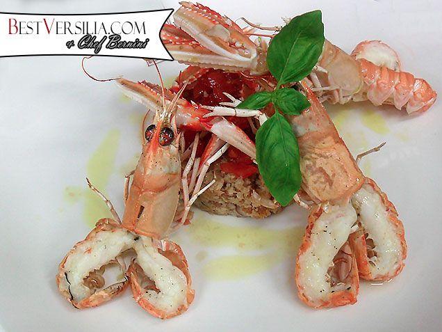 """Nuova """"fusion"""" dello chef Bernini di BestVersilia: la panzanella toscana incontra gli scampi!  #Ricette #cucina"""