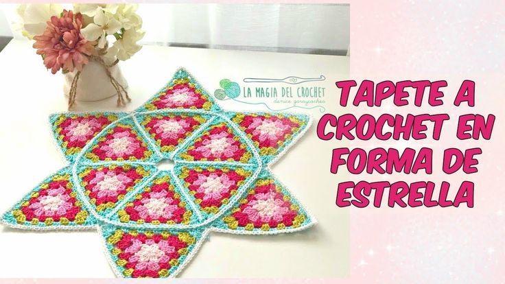Tapete A CROCHET en for ma de estrella -La Magia del Crochet-