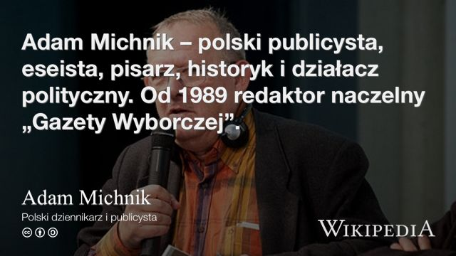 """Adam Michnik"" på @Wikipedia:"