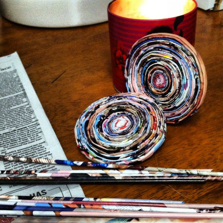 11 best DIY recycle paper coasters images on Pinterest ...