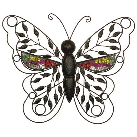 CONTEMPORARY 'METALLIC BUTTERFLY' METAL WALL ART