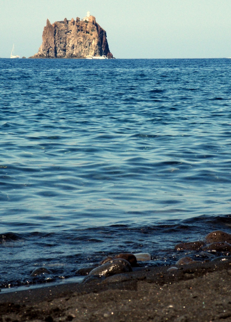 An island near Mt. Stromboli, Italy, province of Messina Sicily