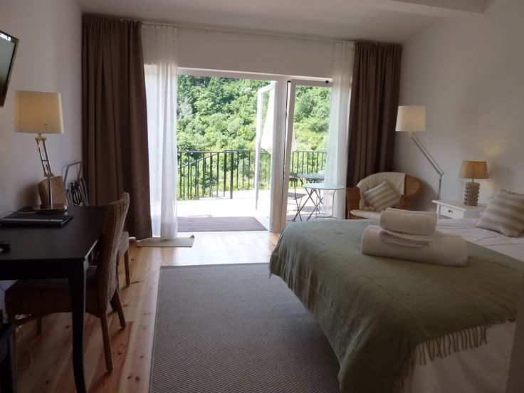 A Casa do Valle superior room. Spacious, with a terrance and a view. Light, calm, and relaxing colors. #bedandbreakfast #Sintra #Portugal #roomwithaview
