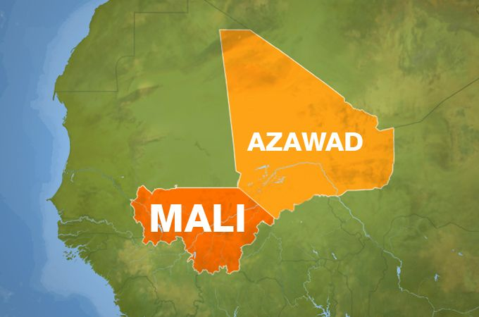 Azawad, the northern region of Mali is a de facto independent state in Africa.