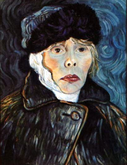 Joni Mitchell - self portrait homage to Van Gogh