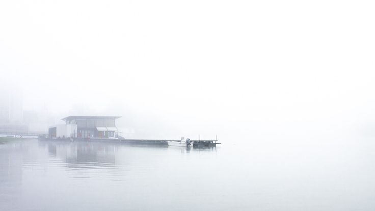 Pier - Mist above the river on a cold spring morning.