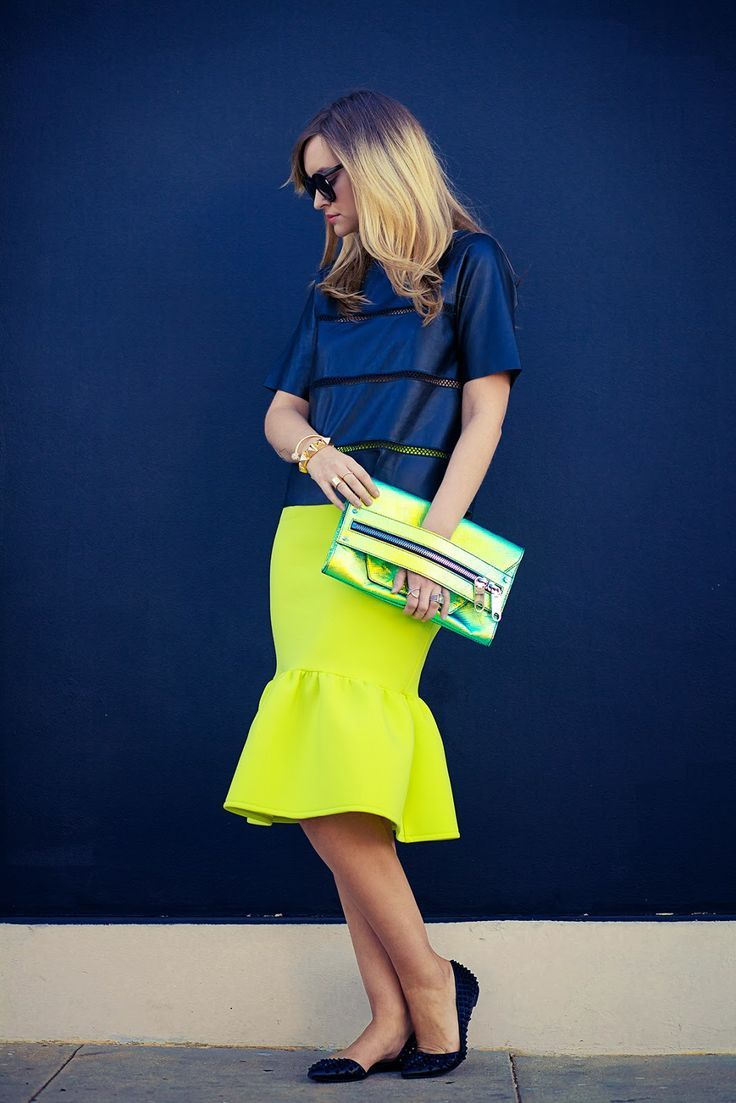 neon party fluted skirt