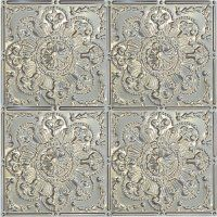 4 2'x2' tin ceiling tiles in antique white finish to hang behind our bed