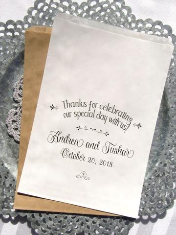 Wedding Favor Bags - Wedding Candy Buffet Bags - Wedding Donut Bags - Candy Bags - by abbeyandizziedesigns.com