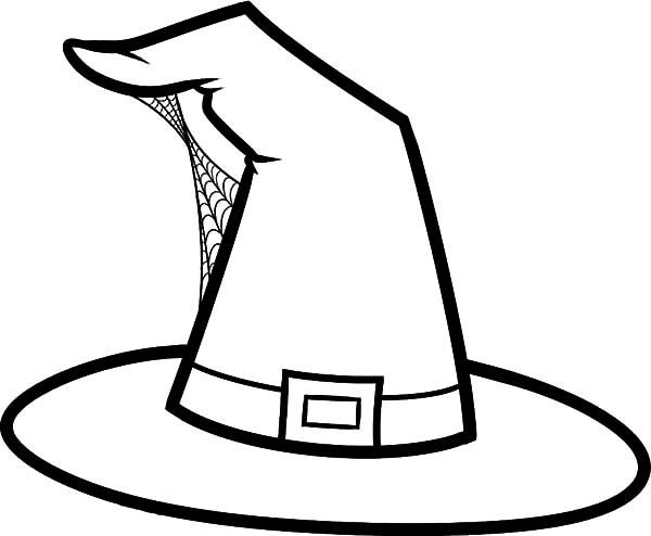 Hat Hat Build With Spider Web Coloring Pages Witch Coloring Pages Spider Coloring Page Witch Hat